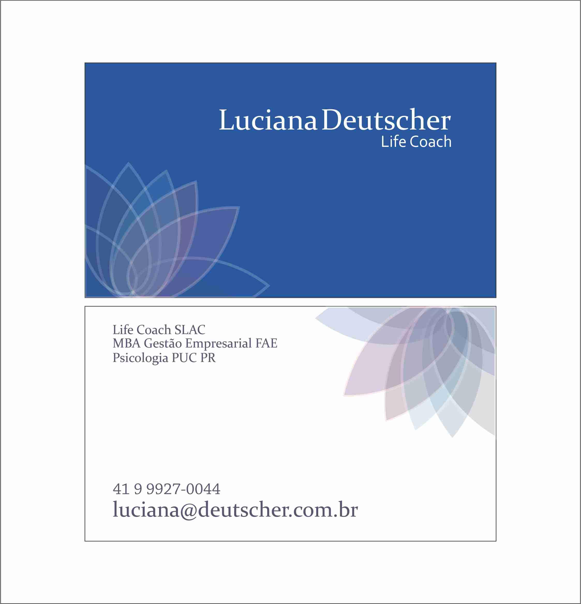 Cartão de Visitas Luciana